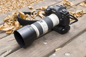 Digital SLR with zoom lens
